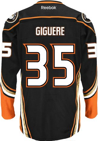 1dc63574c Anaheim Ducks VINTAGE Jean-Sebastien GIGUERE  35 Official Home Reebok  Premier Replica NHL Hockey
