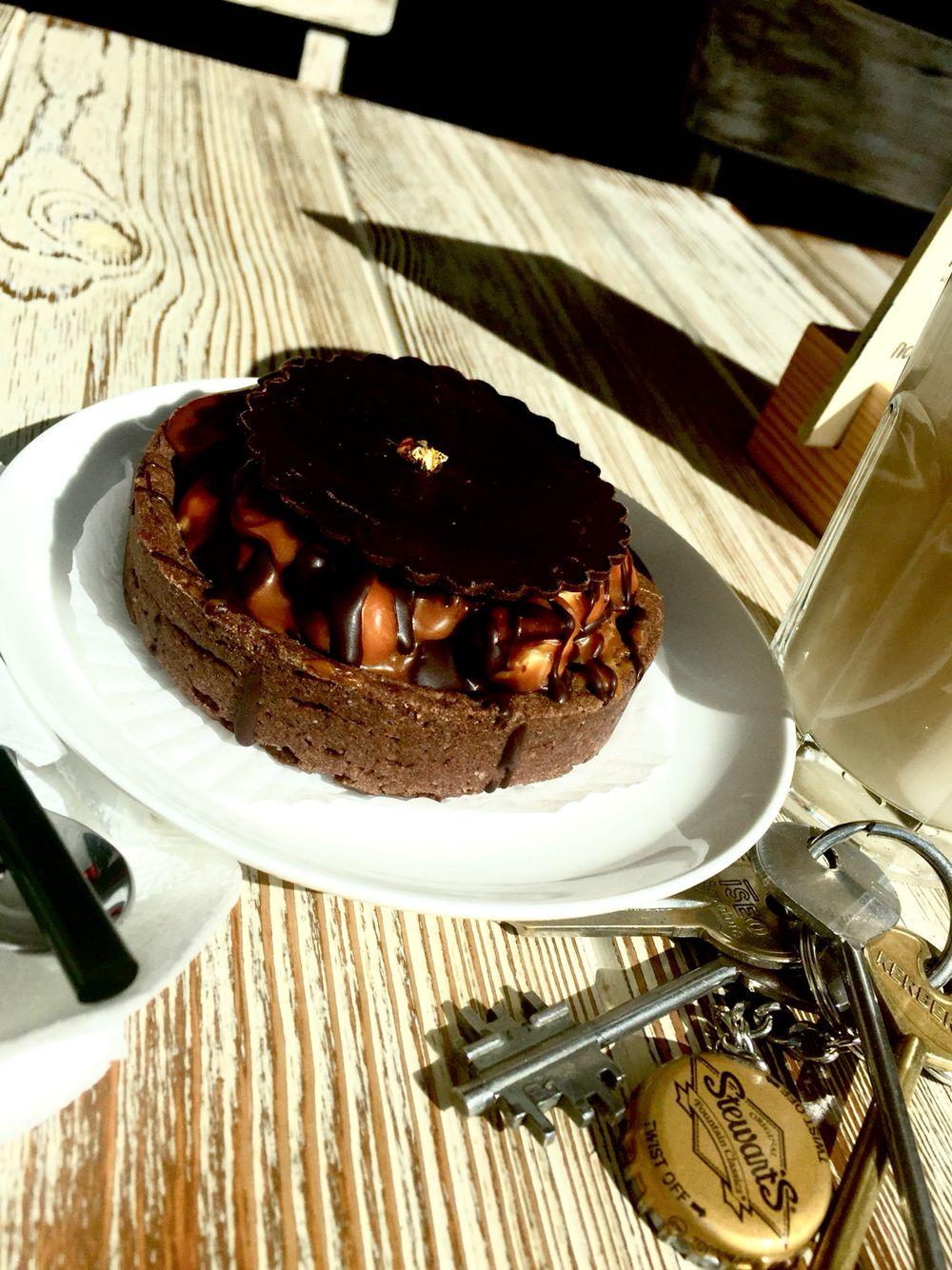 Korzinochka with  milk caramel and nuts.....Bouche, St Petersburg