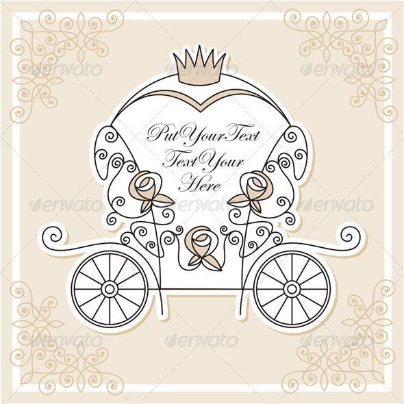 Invitation vector design with wedding carriage stopboris Gallery