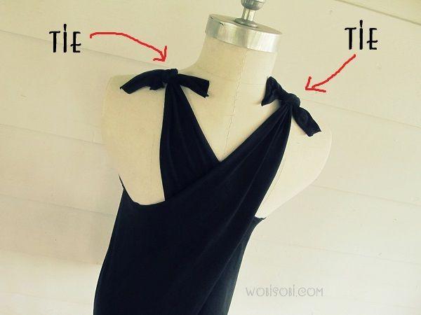 No Sew, CrissCross Back, T-Shirt DIY
