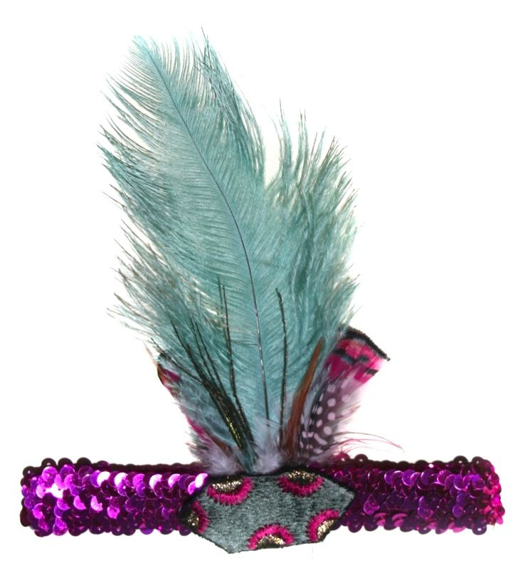 PEACOCK FEATHER HEADBAND - Bright, colourful & gorgeous, made for little performers. $35   http://www.tutudumonde.com/tutu-dress-collections/694-bowerbird-feather-headband.html