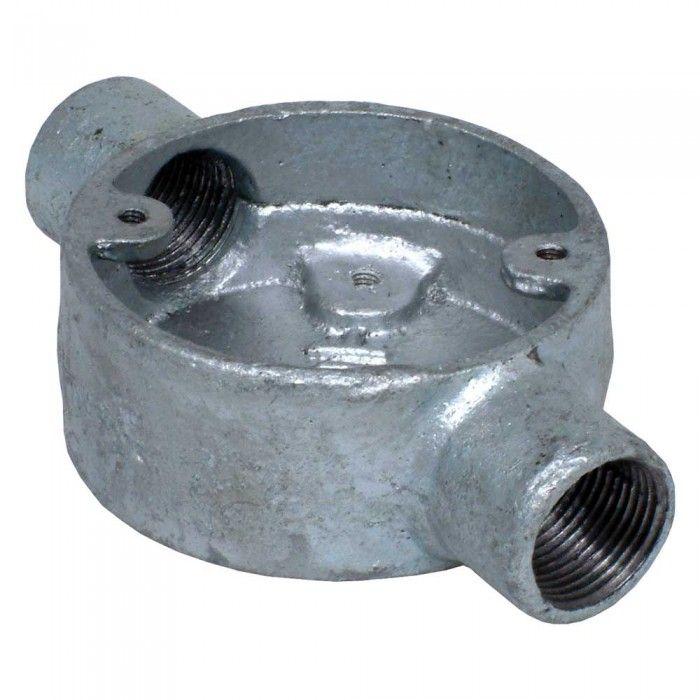 Galvanised Steel Conduit Through Box - 20mm | QVS Electrical ...