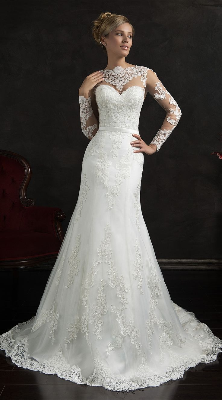 Are you a 2016 bride-to-be? What will you wear in your big day? What about this designer long sleeve lace mermaid 2016 wedding dress? Do you love it? www.27dress.com