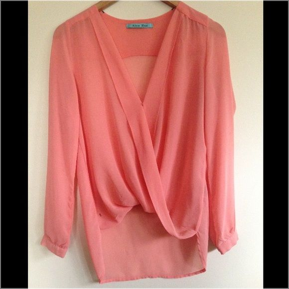 Blouse Peachy long sleeve blouse. Offers accepted Tops Blouses