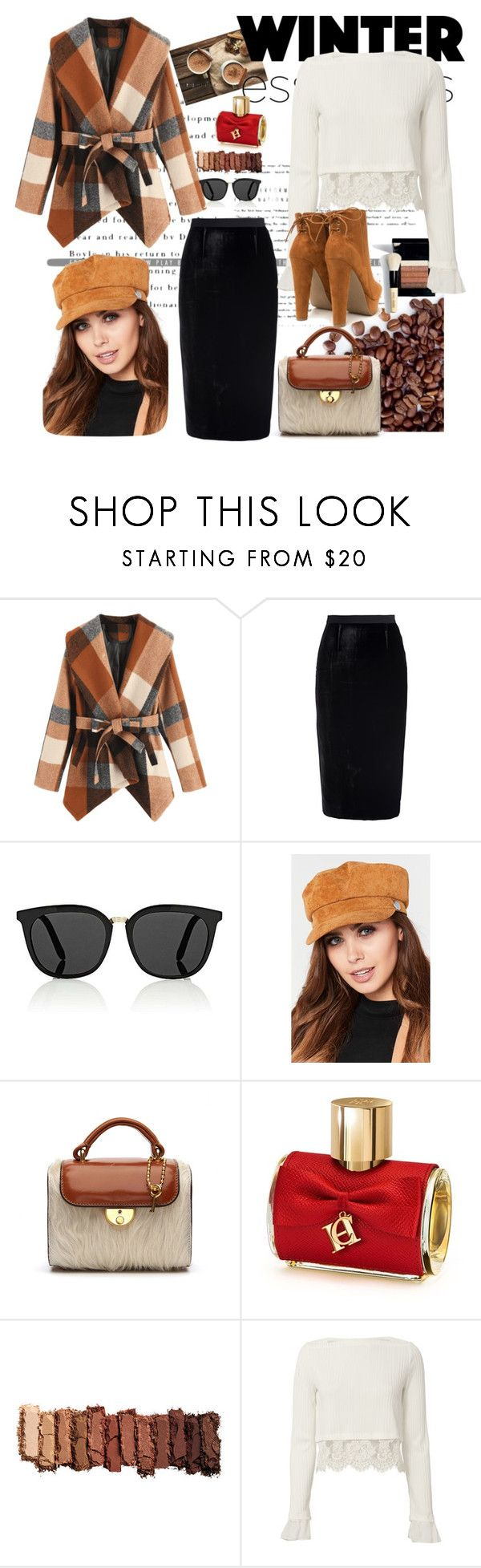 """Plaid Winter"" by verlacomplacencia ❤ liked on Polyvore featuring Roland Mouret, Victoria Beckham, Maison Margiela, Bobbi Brown Cosmetics, Carolina Herrera, Urban Decay and 3.1 Phillip Lim"