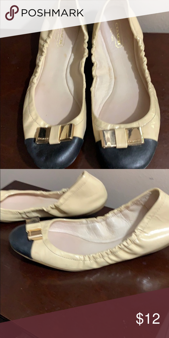 6a89f3c50f6807 Coach ballet flats Cute, worn Coach ballet style, size 8B in very used  condition
