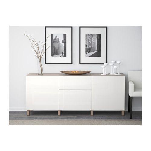 best aufbewahrung mit schubladen grau las nussbaumnachb selsviken hochglanz wei. Black Bedroom Furniture Sets. Home Design Ideas
