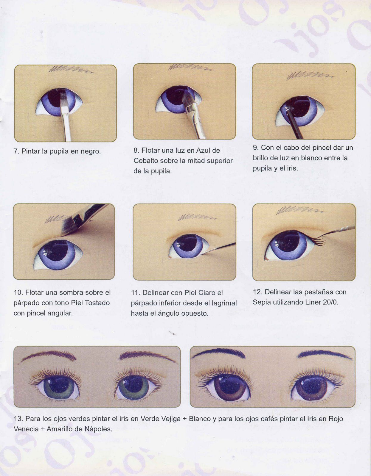 Dibujos Y Plantillas Para Imprimir Pintado Ojos De Munecas A