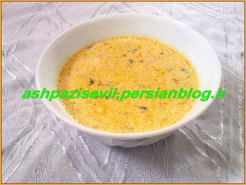 سؤوت شورباسی یا شُوربای شیر - آشپزی سئویل ( آشپزی در مرند)