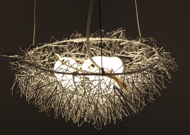 Bird nest light chandelier nests pinterest the ojays of bird nest light chandelier mozeypictures Image collections