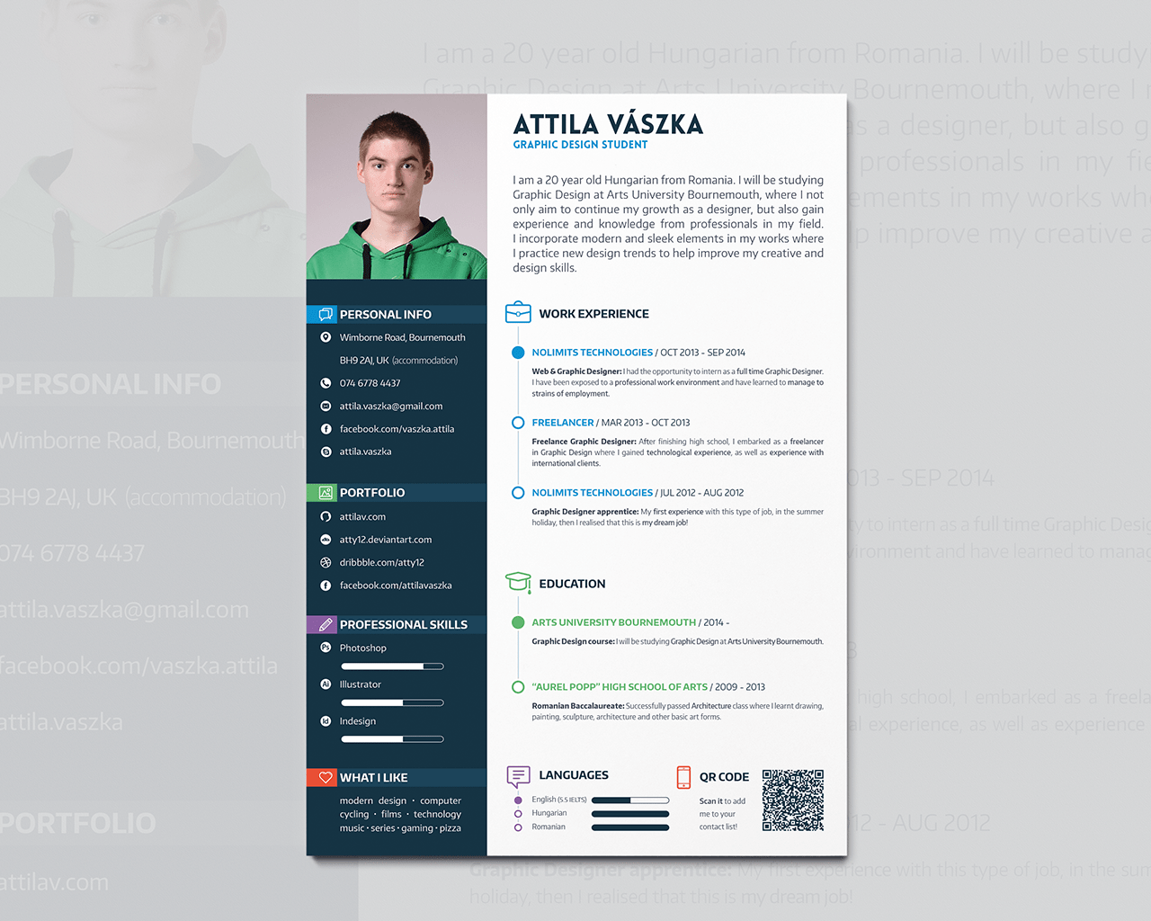 Resume Template For Graphic Designer  Free Cv Resume Templates