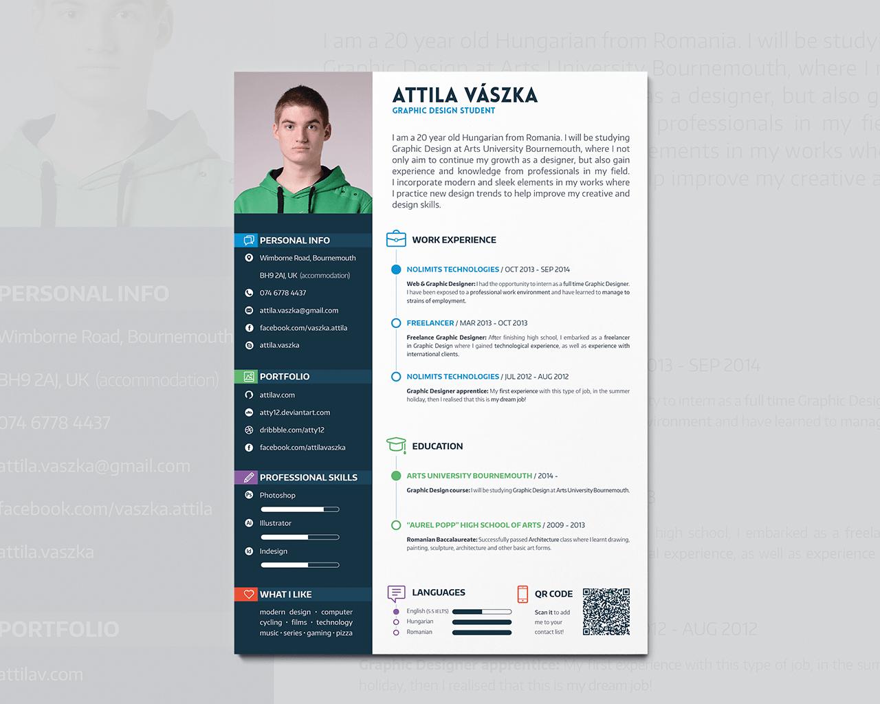 Resume Template For Graphic Designer 20 Free Cv Resume Templates 2017  Freebies Graphic Cv Resume Design By Atty12Deviantart On Deviantart