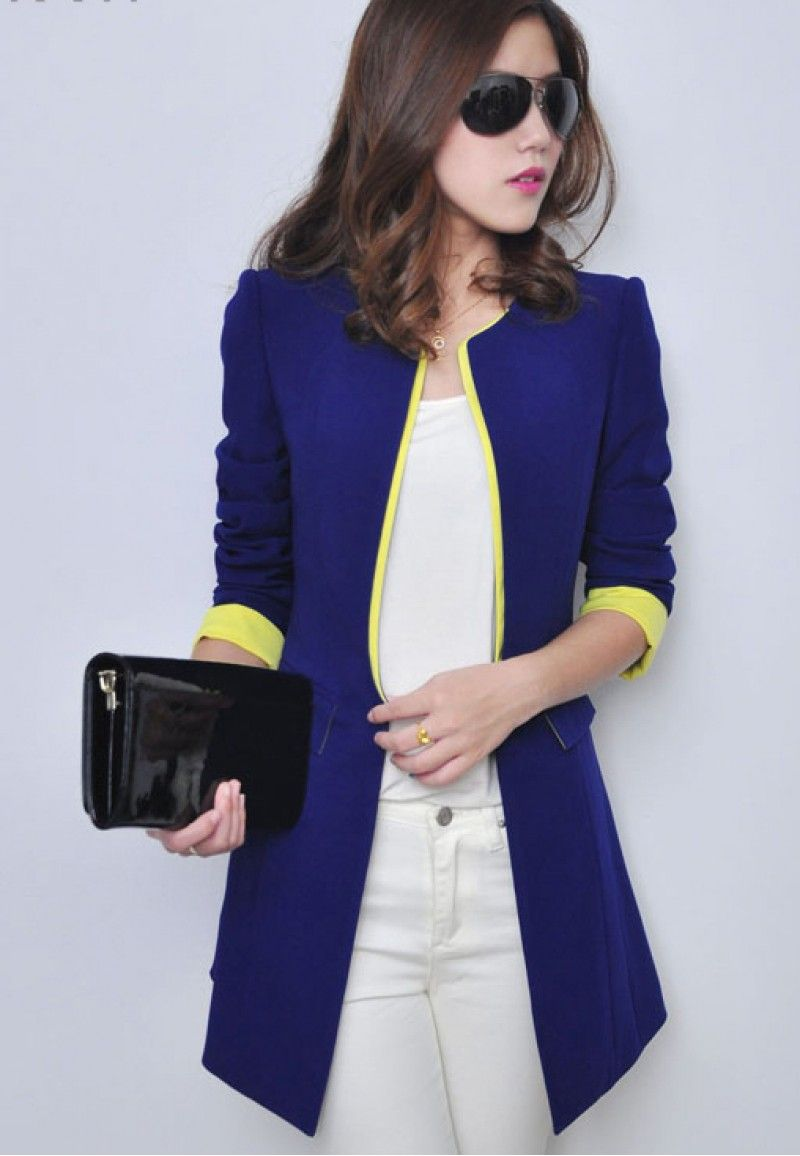 d0d193e317dc Women s Long Blazer- Blue. Women s Long Blazer- Blue Blazer Jackets ...