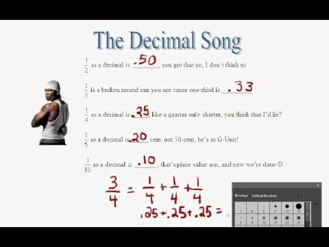 CompChant   The Decimal Song Like How He Uses Unit Fractions (like Common  Core Definition