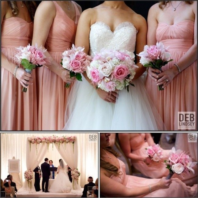 DC Real Wedding - Bergerons Flowers - Bergerons Event Florist Blog - Carrie and Adam's Pretty in Pink Wedding #pink #gardenroses