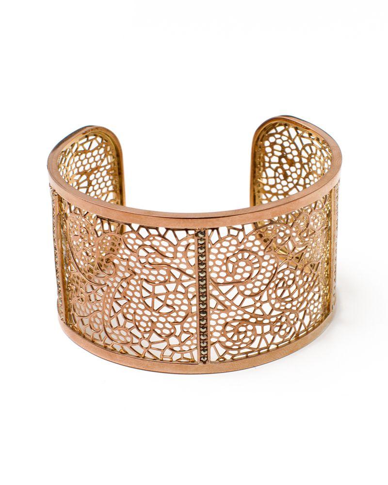 Bronze Web Cuff