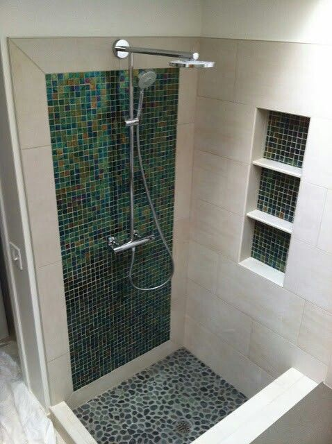 Glass accent shower