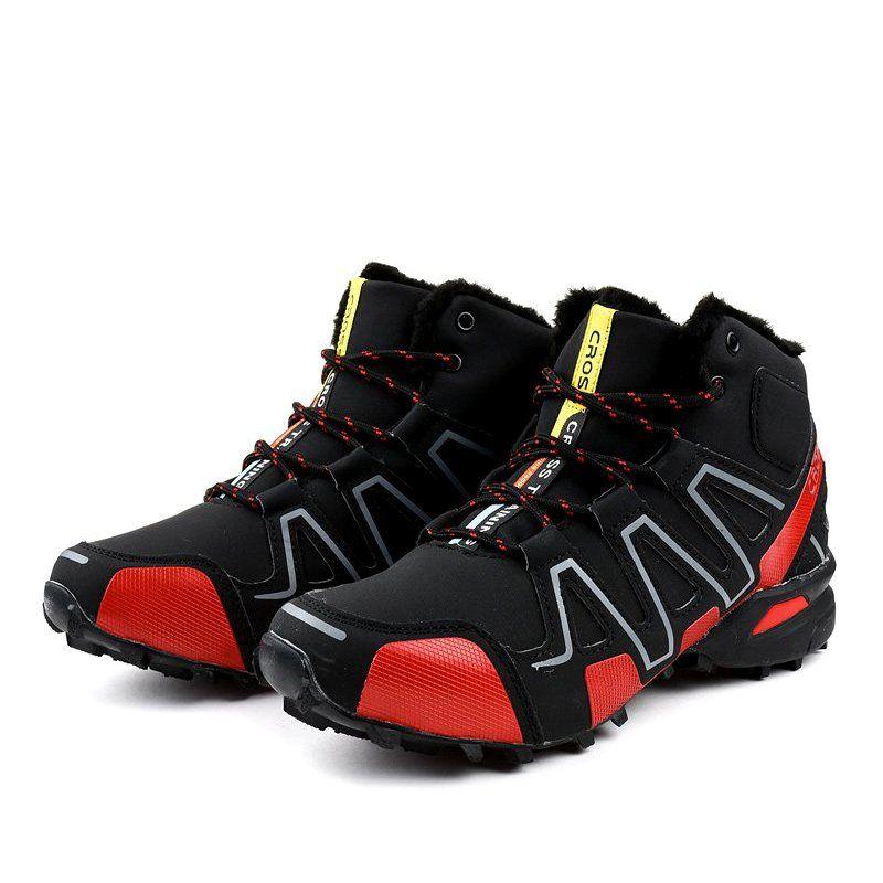 Czarne Obuwie Trekkingowe Ocieplane Bn8810 Trekking Shoes Shoes Organic Leather