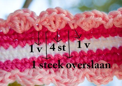 Mooi En Simpel Randje Haken Pinterest Crochet Diy Crochet En