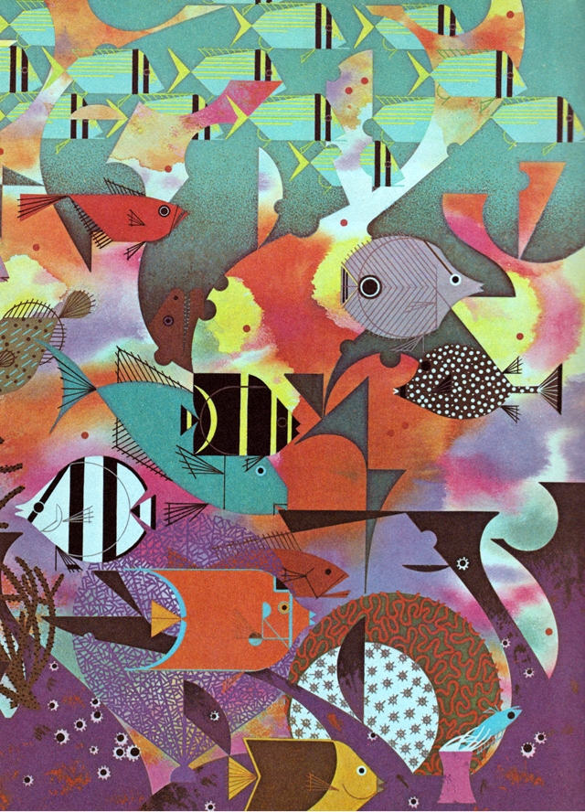 Charley Harper   Somthing\'s Fishy   Pinterest   Ilustraciones ...