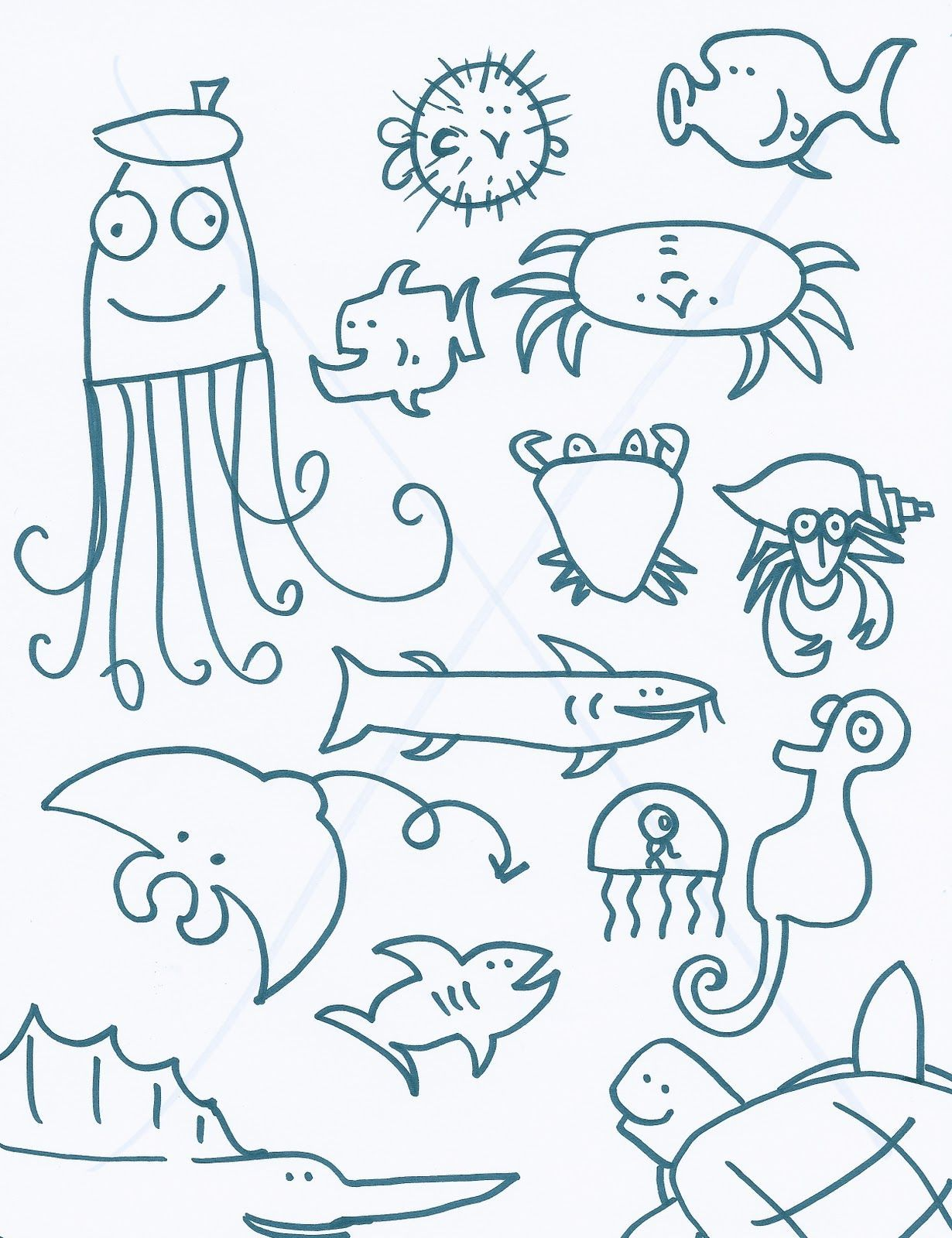 Ocean Creatures In
