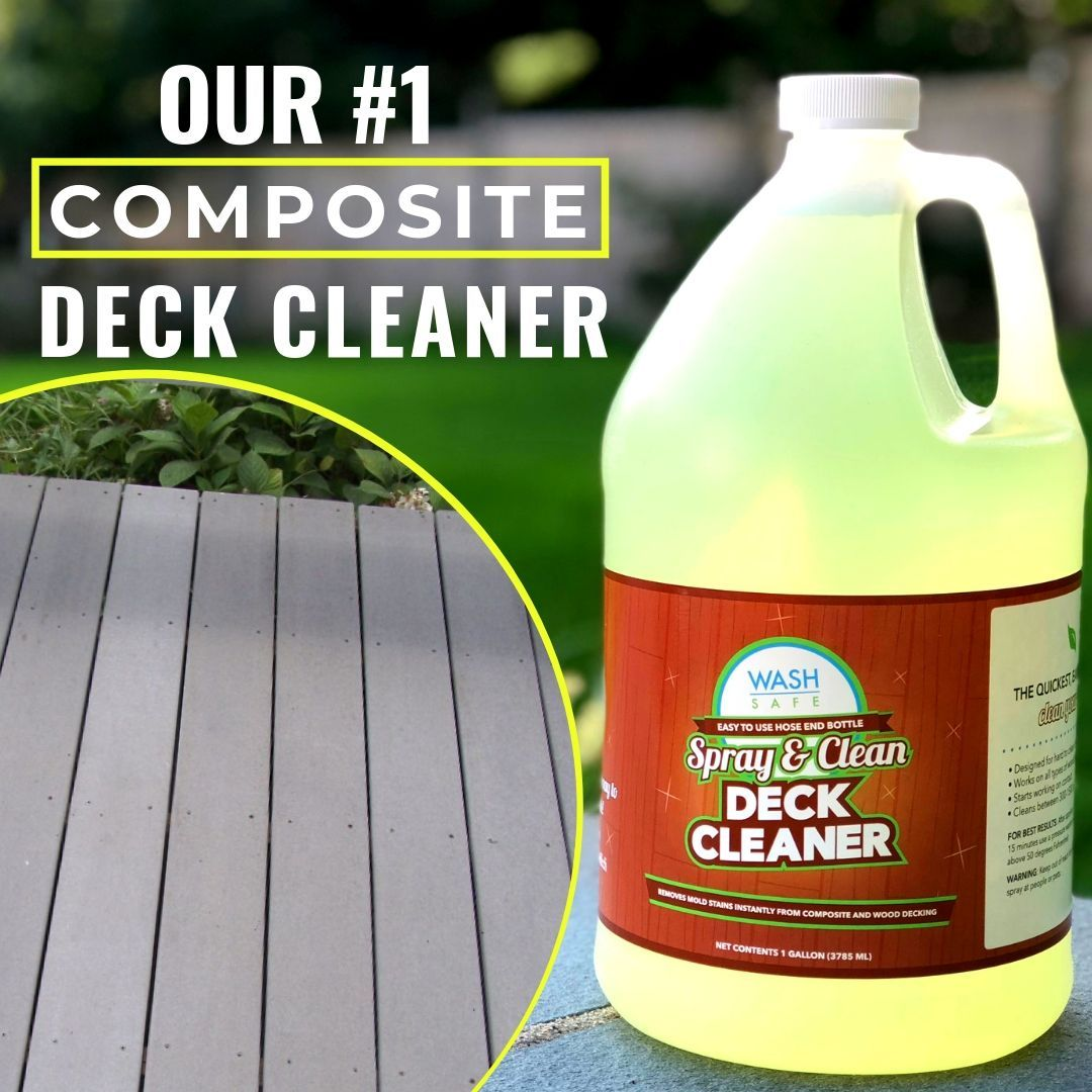 HOW TO CLEAN A TREX COMPOSITE DECK Deck cleaner, Deck