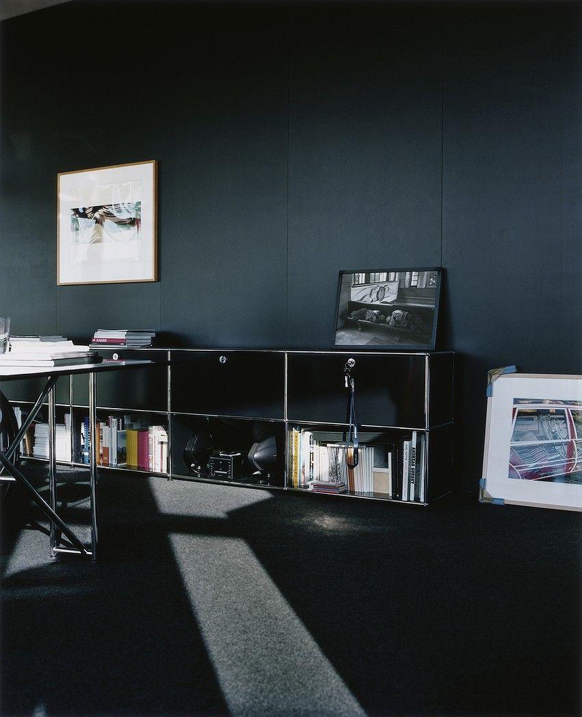 Bureau Priv Usm Haller Meuble D Appoint Usm Haller Noir Graphite  # Combine Meuble Tv Bureau