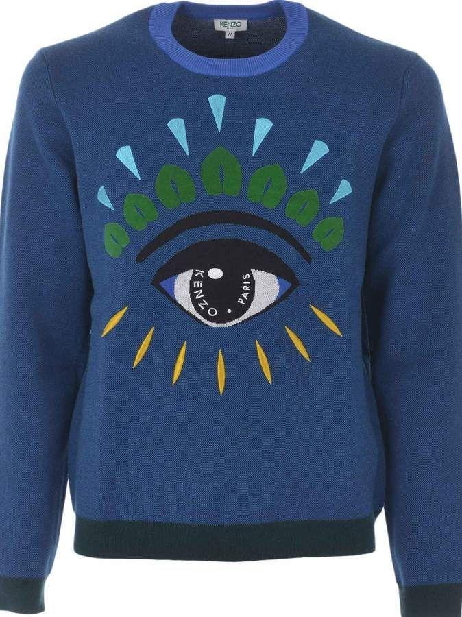 37f3ebc854 Kenzo Eye Jumper in 2019 | Products | Kenzo sweater, Kenzo, Jumper