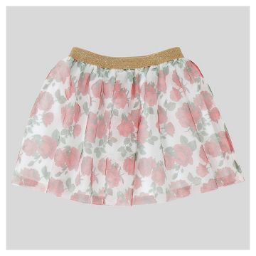 Girls' Beauty and Beast Rose Tutu Skirt