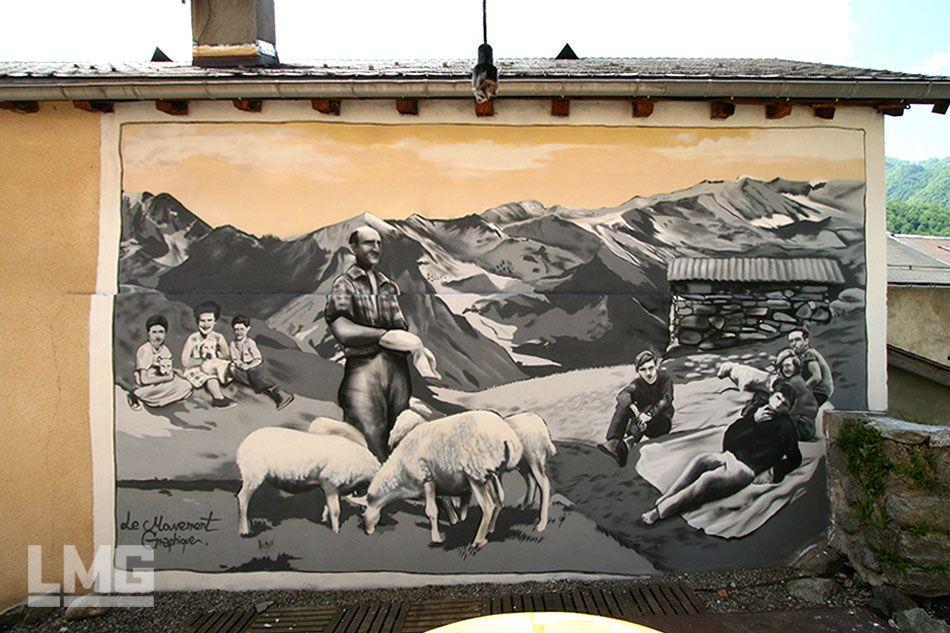 Décorations Mur Extérieur Façade Graffiti Artiste