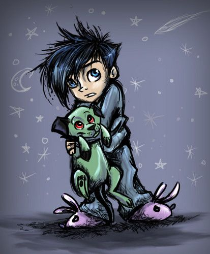 Fan Art of Danny and Cujo :3 for fans of Danny Phantom. This artist makes awesome drawings!