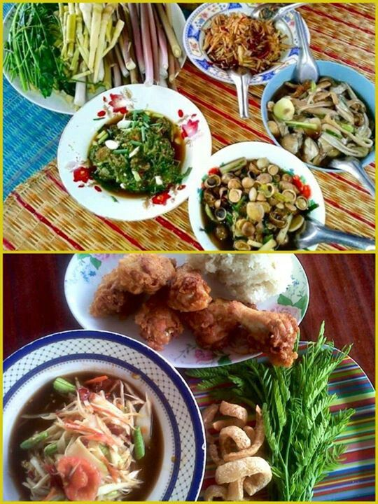 Lao foods floor food eating at the table is just not the same lao foods floor food eating at the table is just not the same eating the indian style is the traditional way to eat lao finger food forumfinder Gallery