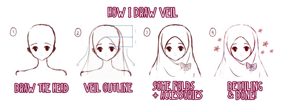 How I Draw Veil / Hijab by sharaps.deviantart.com on @DeviantArt