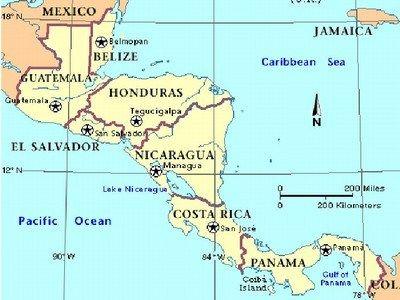 Mapa De Centroamerica Mapa De America Central Con Paises Y