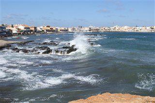 Cabo de Palos, Spanien, Hafen und Küste Mittelmeer Ansicht