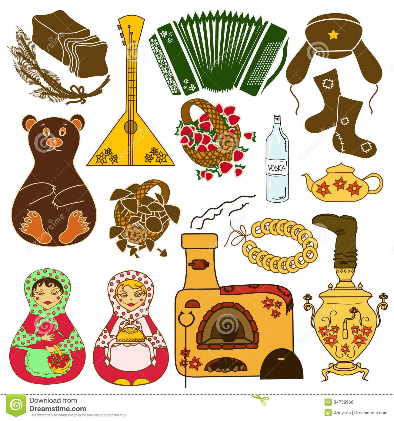 General things that represent Russia White Nights