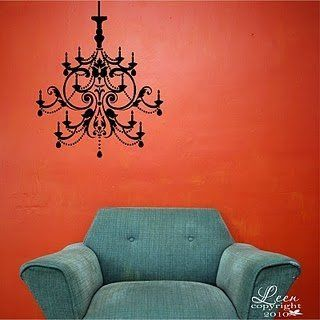Ornate Crystal Chandelier Vinyl Wall Decal-Chandelier Color-Gold Metallic by Leen the Graphics Queen, http://www.amazon.com/dp/B006N88VTK/ref=cm_sw_r_pi_dp_19d8qb0CR8FBA