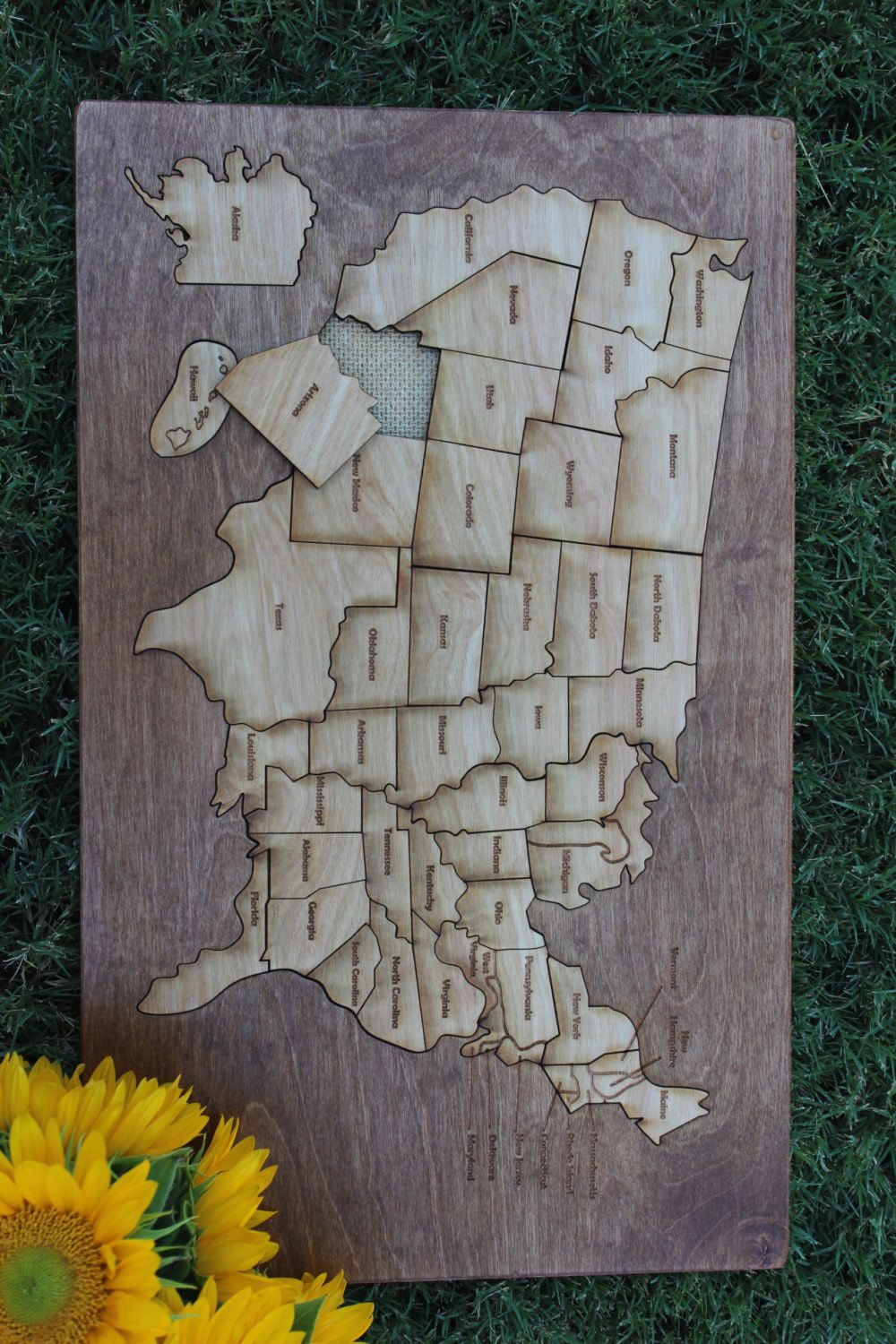 United States Wooden Map Puzzle | U.S. map plus medals project ...