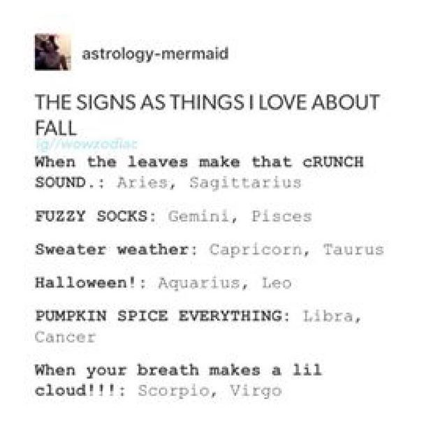 The Signs As Things I Love About Fall @portraitdeyeol