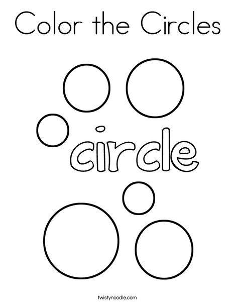 Color The Circles Coloring Page Twisty Noodle Shape Mini Books