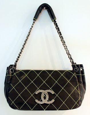 4c24ea736 Madame Recicla: BOLSA CHANEL PRETA | Bolsas vintage | Bolsa chanel ...