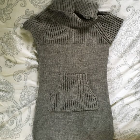 Short sleeve sweater dress Short sleeve grey sweater dress can also be worn as a long sweater top over leggings Max rave Dresses Mini