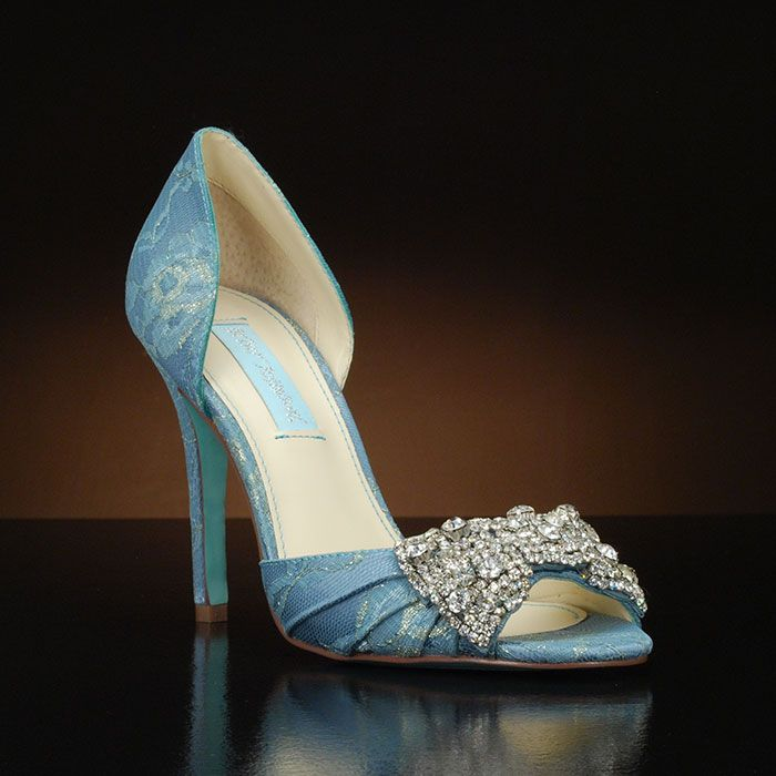 Gown-LC by Betsey Johnson. Peep toe d\'orday bridal shoe available at ...