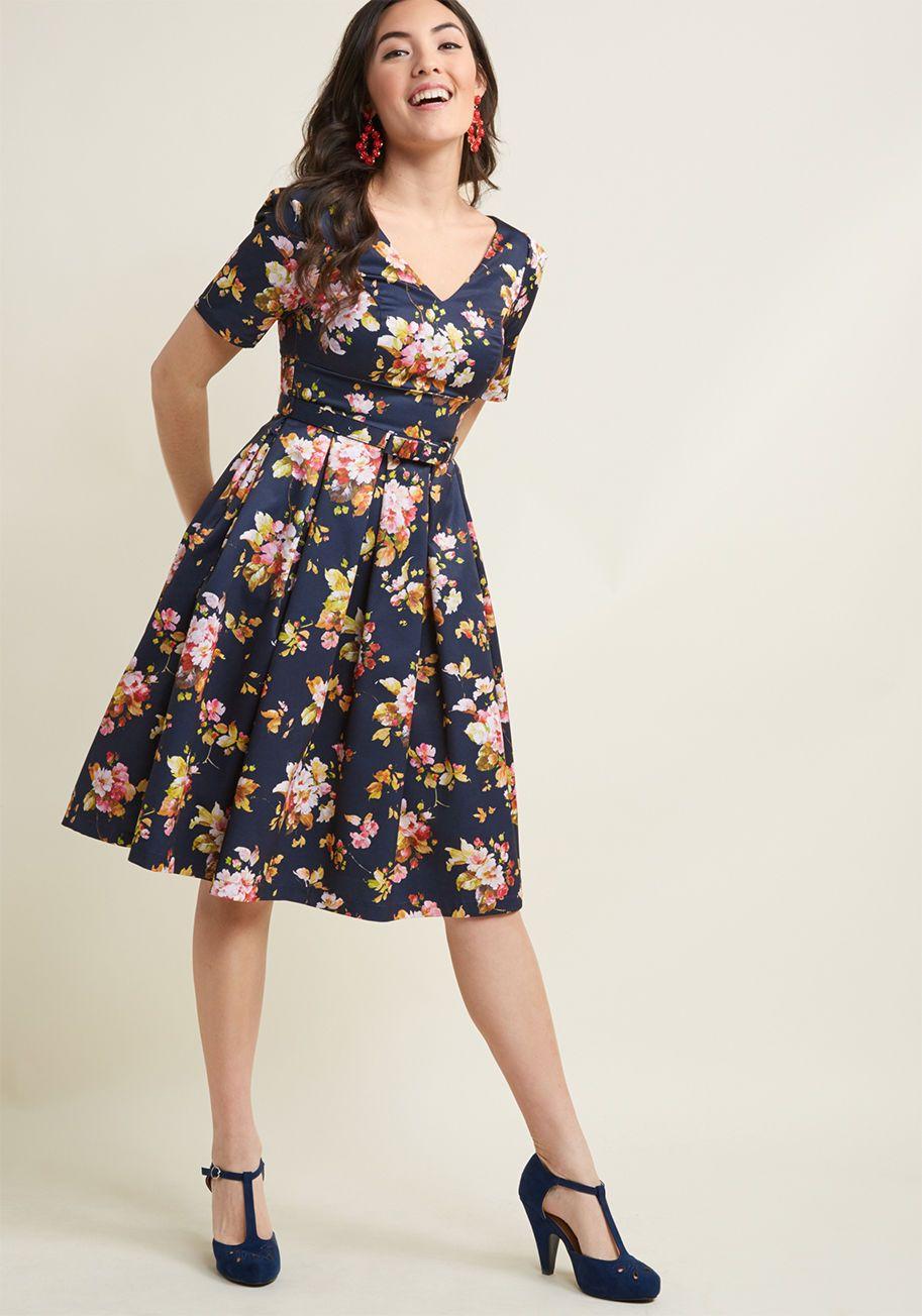 b94e27b0b2d6 Elegant Instance Fit and Flare Dress   Pinterest