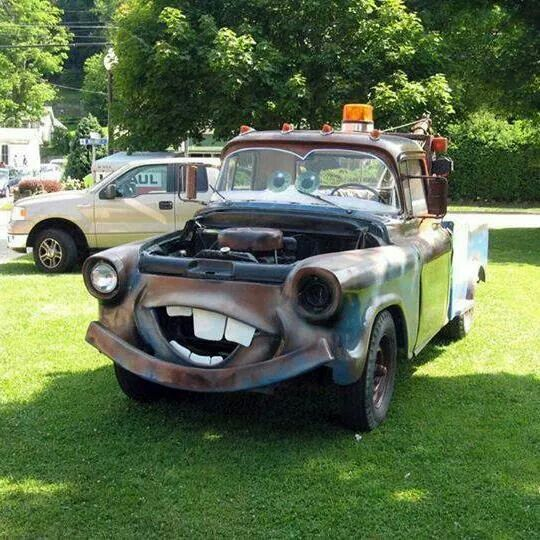 Guy Red His Truck To Look Like Mater My Grandson Would Love This
