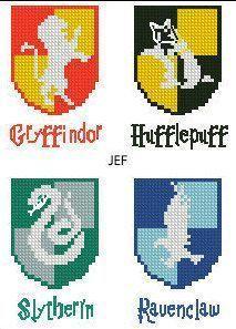 Ceci est un motif au point de croix Hogwarts Houses Movie Emblem Gryffindor Slytherin … – Knitting 2019 trend   ml   – minecraft pictures