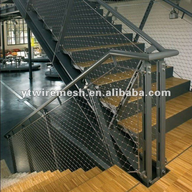 Stairs safety rope mesh made of stainless steel wire rope   Deco ...
