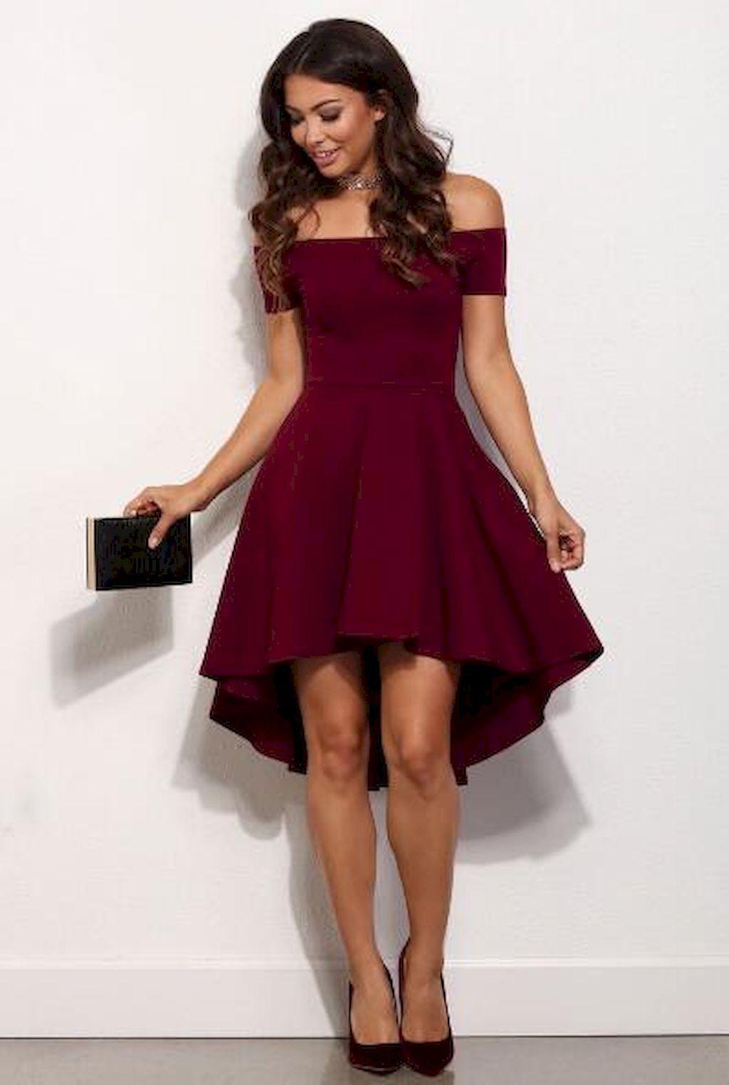 66 Breathtaking Burgundy and Marsala Bridesmaid Dresses Ideas | Kleider
