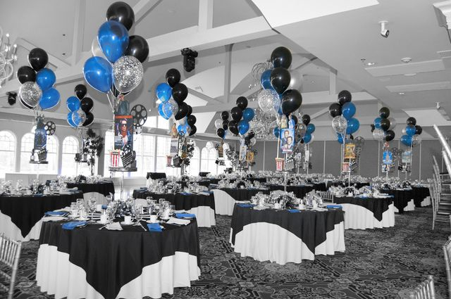 Royal Blue And Black Party Decorations Black Party Decorations