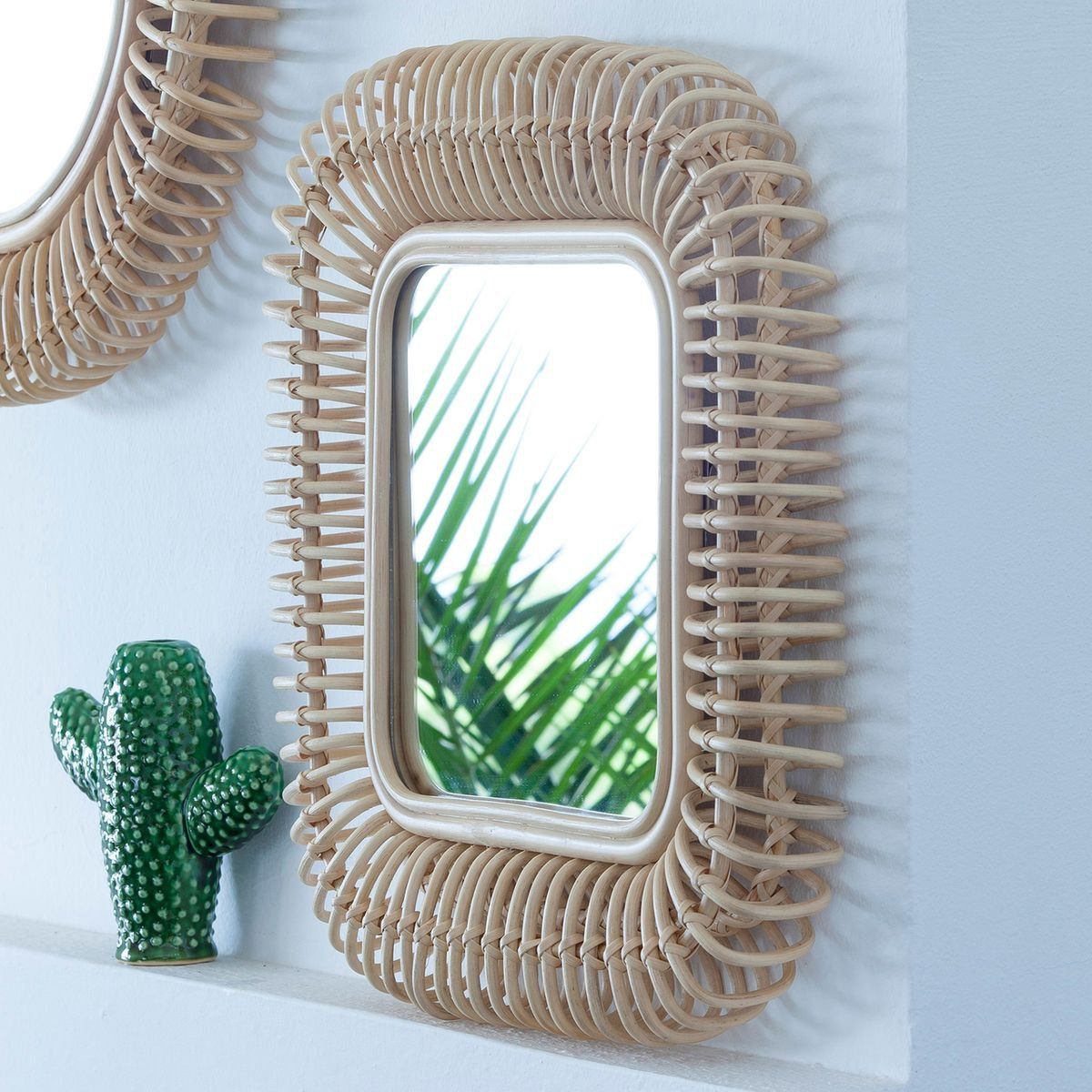 Cannage Rotin Miroir Rotin Osier Rotin Cannage Wicker And Rattan